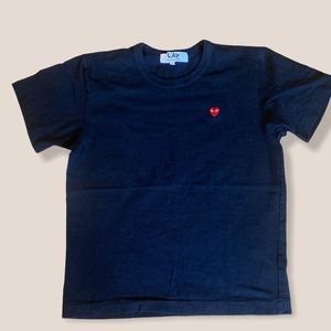 PLAY Comme Des Garcons logo tee large
